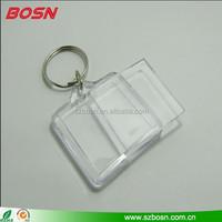 Clear Blank Acrylic Photo Keychains Wholesale,Rectangle clear acrylic keychain with photo frame