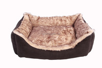 square dog bed for pets with cushion removable
