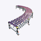 Flexible Expandable Gravity Plastic Skate Wheel Roller Conveyor