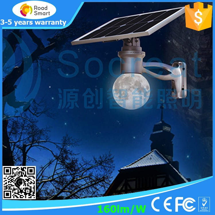 8W 12W Solar LED Outdoor Street Fence Post Cap Light with Motion Sensor CE ROHS FCC CQC IP65