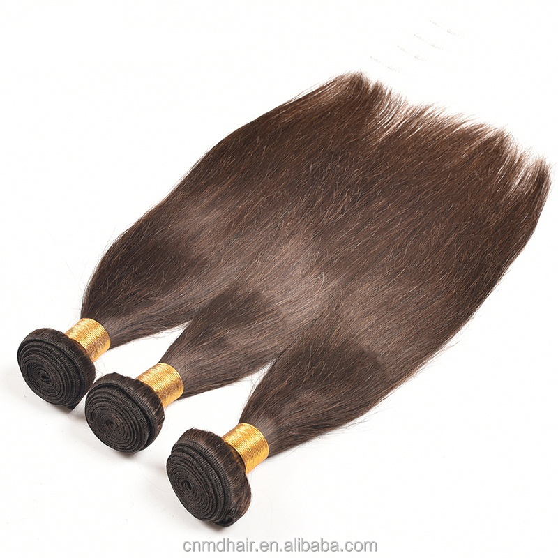 dark brown color 2 Brazilian Straight Hair Weave Bundles