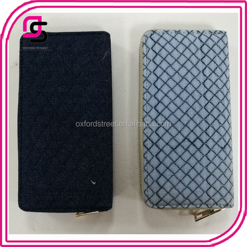 customize wholesale fashion women cotton quilted wallet