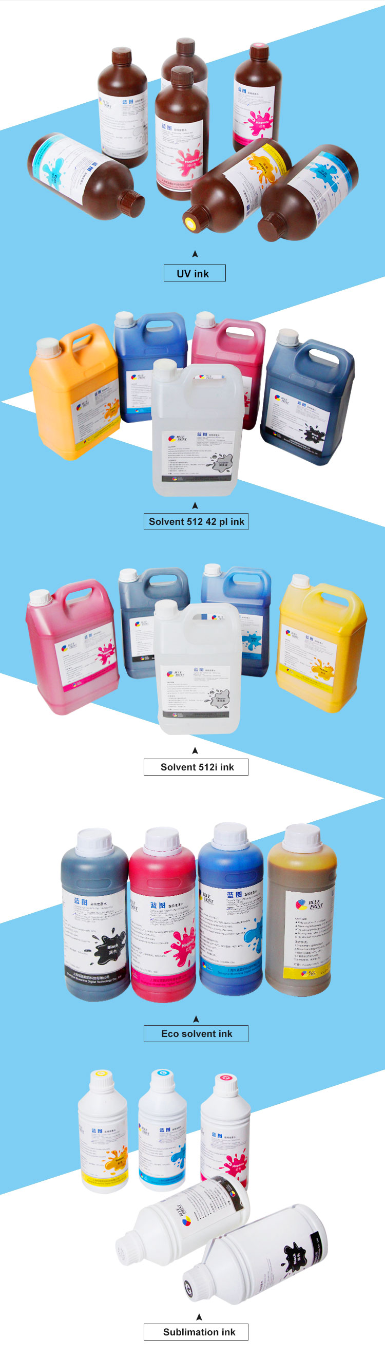 Price Competitive DX5 Print Head Water Base Dye Sublimation Ink