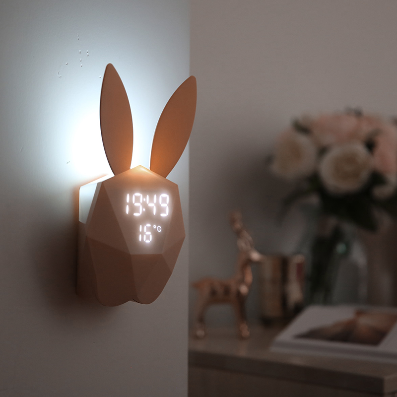 Wake-Up Light Despertador Com Luz E Voz Sensor de Luz Noite