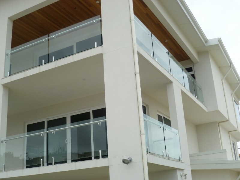 stainless steel baluster tempered glass balcony railing