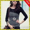 long striped sleeve lady t-shirt fashion t shirt be t shirt VOWWT7356