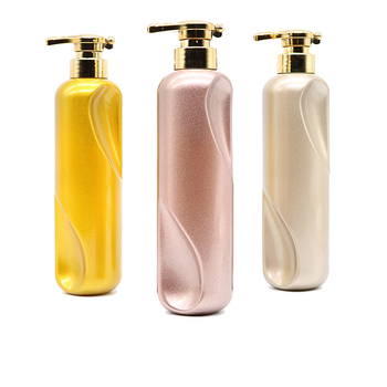 China supplier unique shape 500m plastic packing bottle with press pump for hair conditioner hair dye cream container spot goods