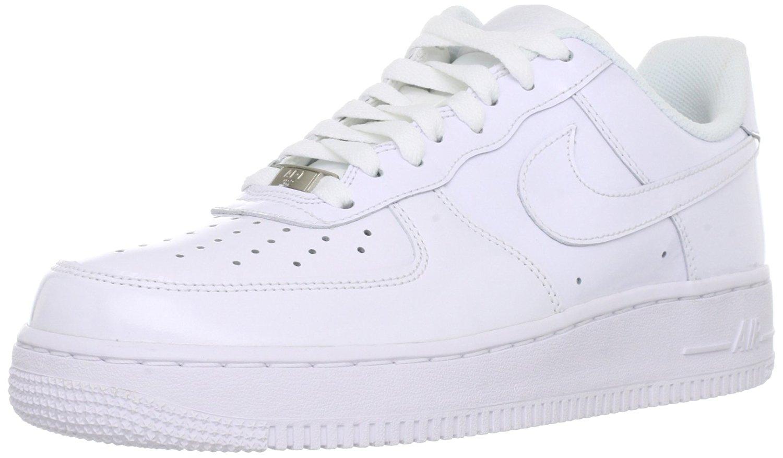 arrives 5d61b f1e73 Get Quotations · Nike Men s Air Force 1, WHITE WHITE-WHITE