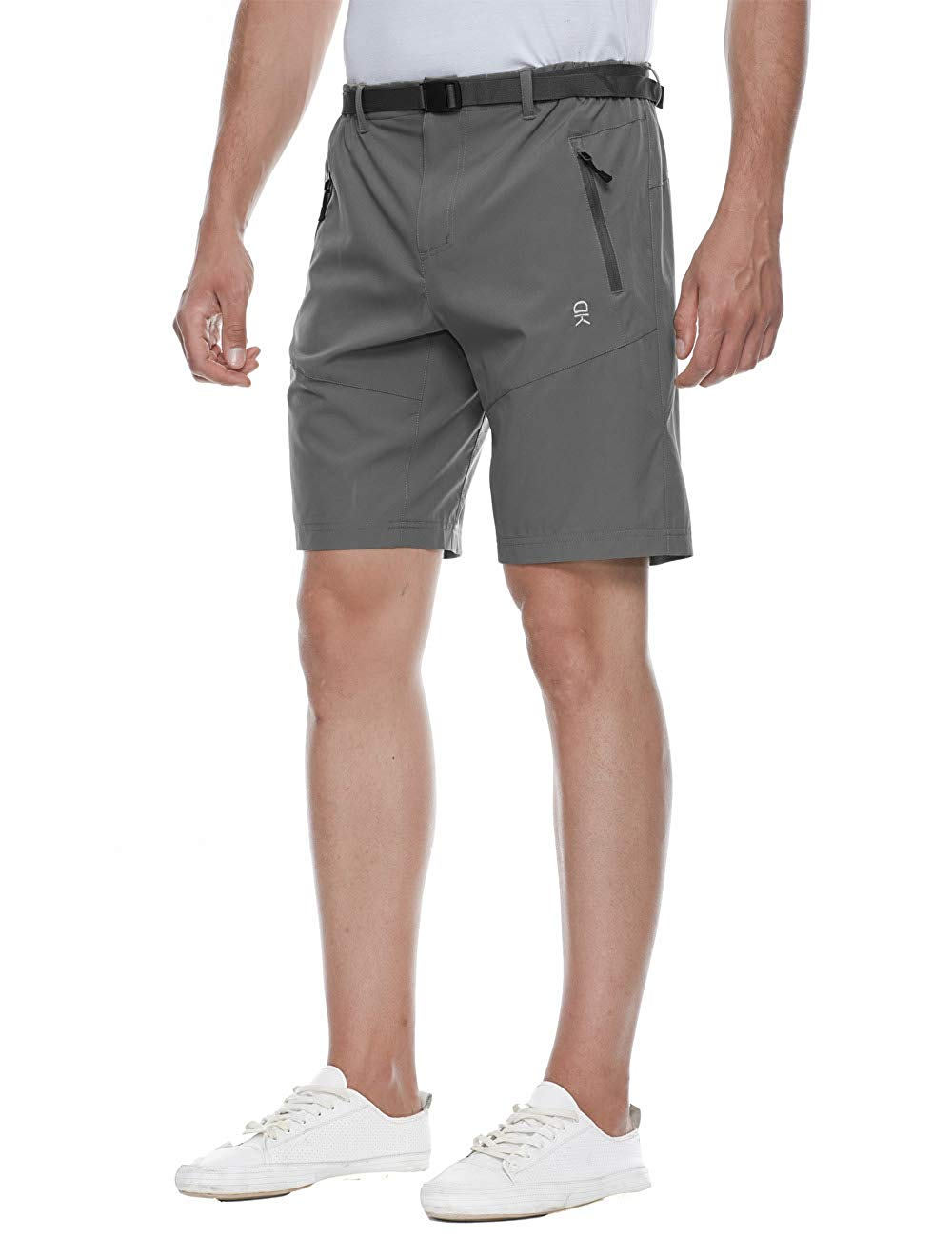 6599d354f7 Get Quotations · TOPSUN Men's Outdoor Lightweight Cargo Shorts Outdoor  Stretchy Hiking Short Zipper Pocket,Quickdry,Ajustable