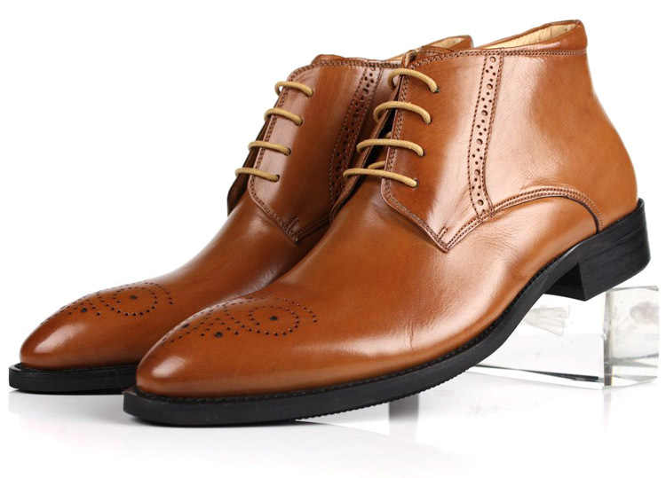 Large Size Eur45 Black Brown Mens Business Shoes Ankle Boots Genuine Leather Casual Office Dress In Price On