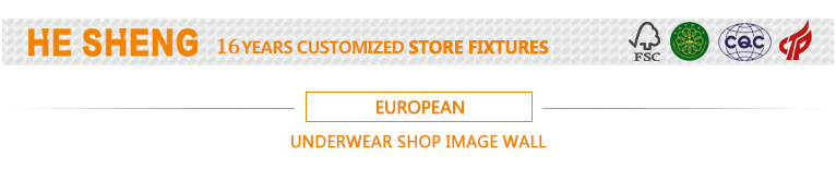 Image wall - minimalist european style commercial underwear display fixture HE02X01