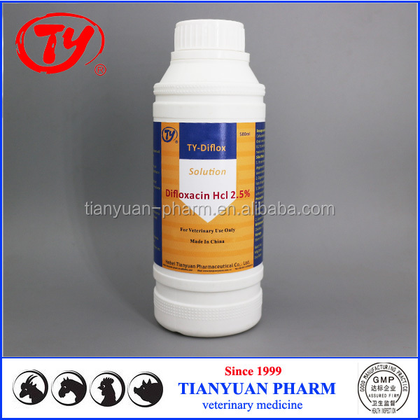 veterinary Difloxacin Hcl oral liquid for poultry
