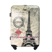 paris bridge abs pc cabin luggage suitcase for fashion gift