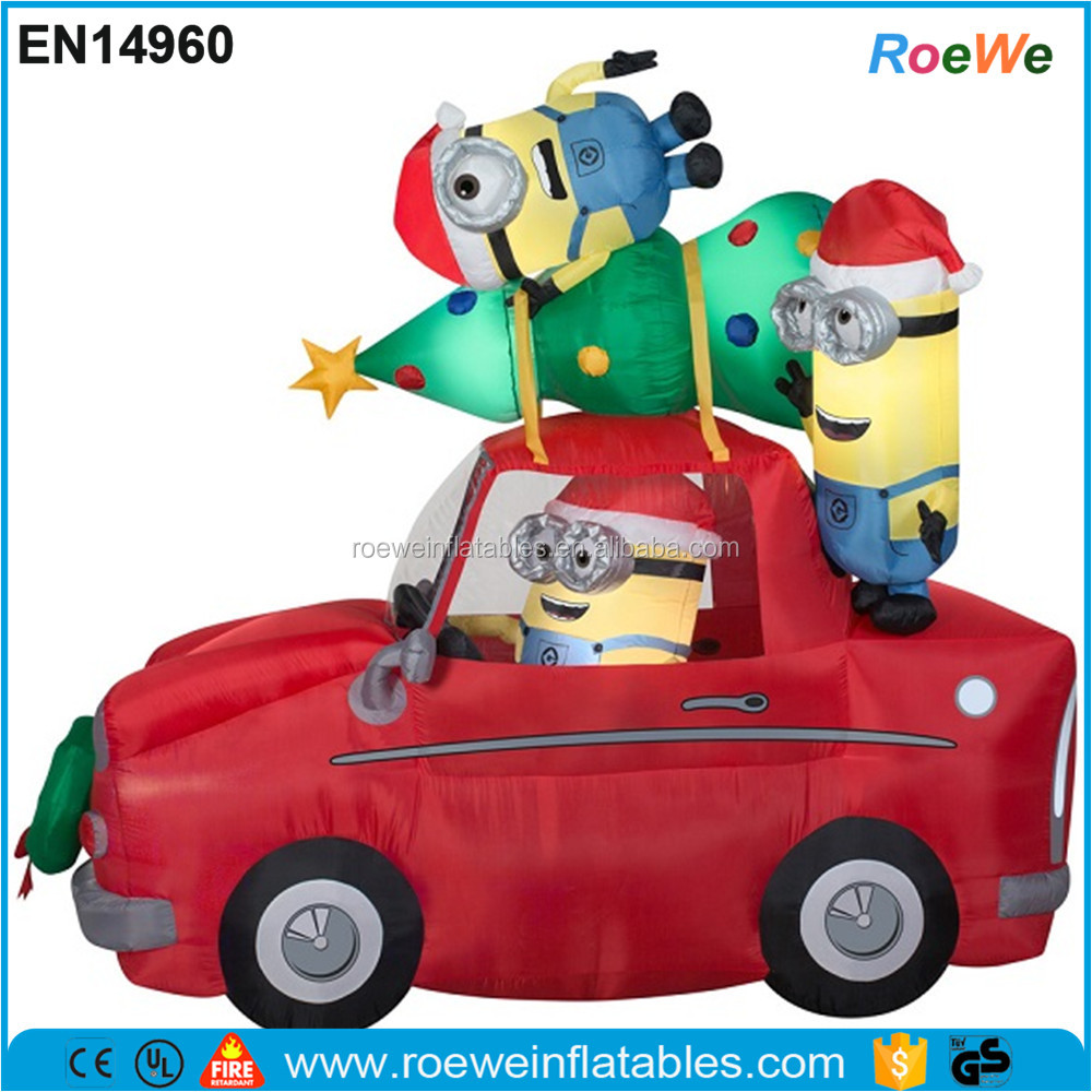 Minions Car Ride Christmas Airblown Inflatable
