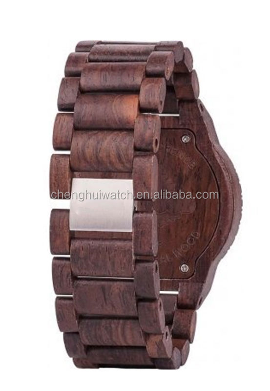 new style multifuction chronograph quartz 6 hands wood watches for men
