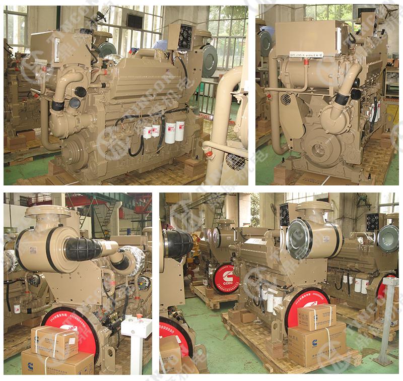 Kta19 m3 marine dieselmotor voor Cummins kt19 600hp met CCS IMO2 IMO1 certificaat 447kw