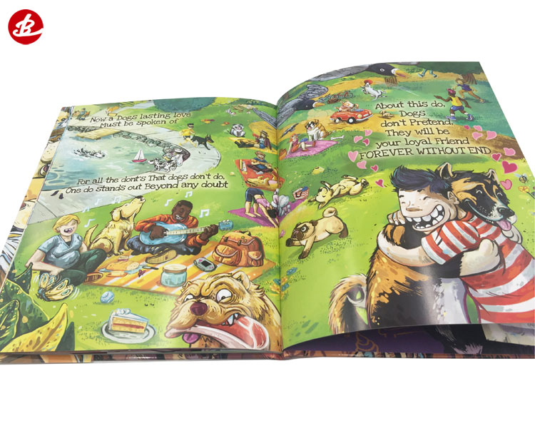 High Quality Company Custom Colorful On Demand Hardcover Children Books Printing