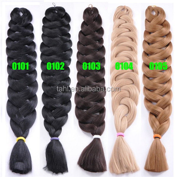 Alibaba cheap best quality handmade 165g ombre jumbo braid synthetic hair jumbo braid