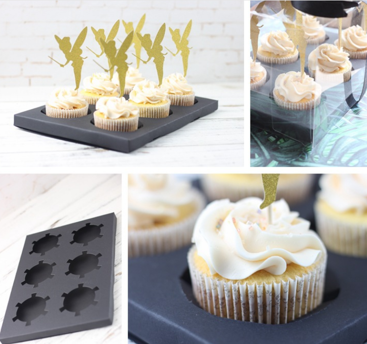 New style cake decoration baking box paper cupcake clear box packaging