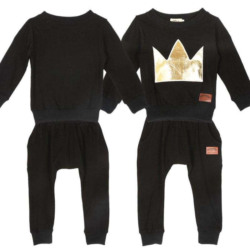 d30ecef35 New 2 Pcs Newborn Toddler Infant Baby Boys Girls Clothes Set T-shirt ...