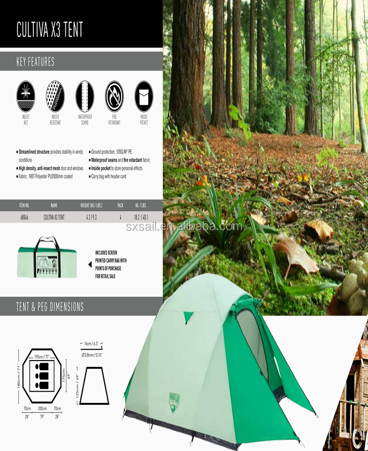 camping insect mesh bestway 287928x71x49 cultiva x3 camping tent view