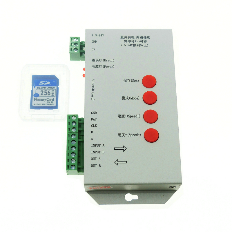 WS2811 WS2812B Programmable RGB SPI SD Card Led Light Pixel Controller