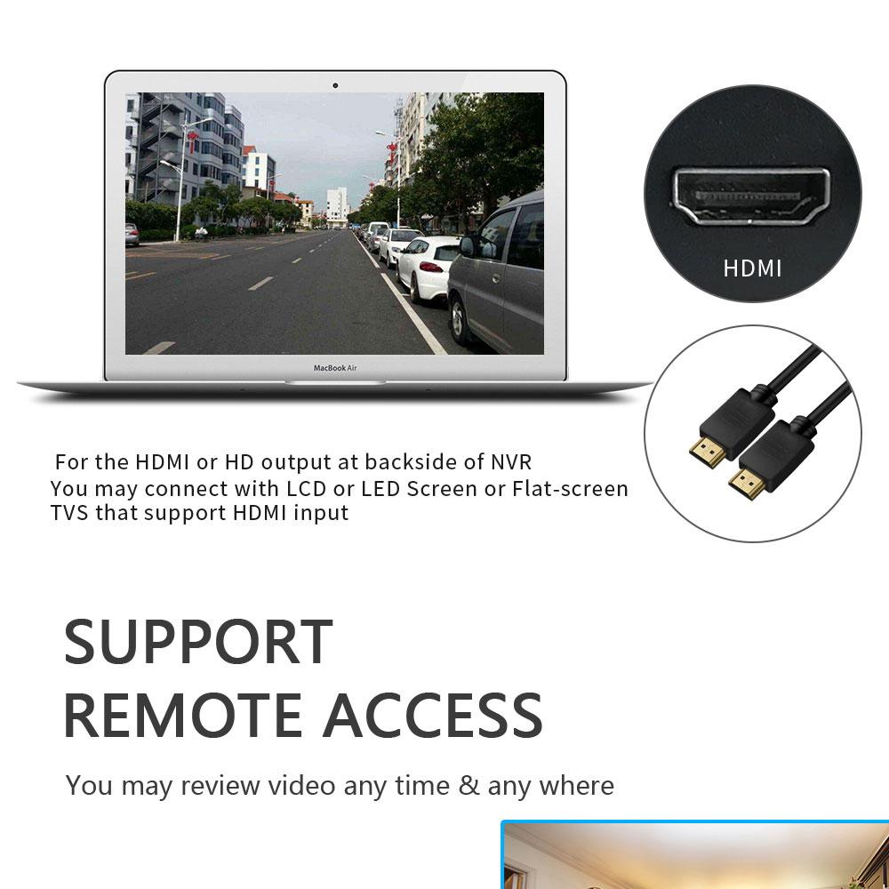 16CH 2MP 1080P CCTV NVR H.265 16 canales grabador de vídeo en red Onvif para cámara IP