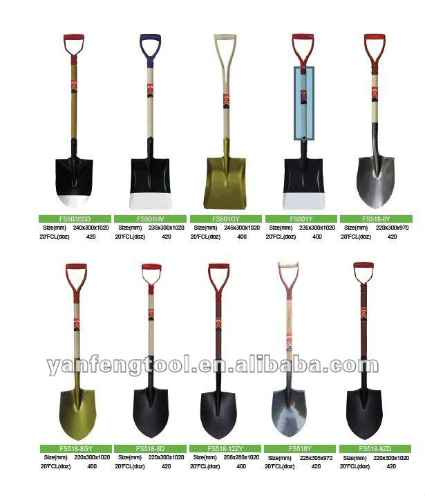 different types of rail steel construction shovel from China