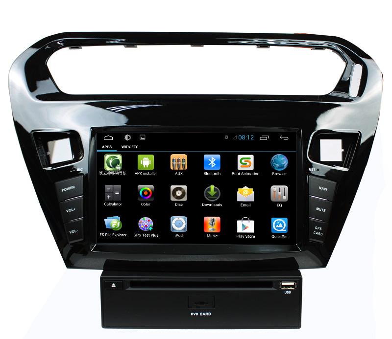 Lsq Star Capacitive Android 4.2 Peugeot 301 Car Dvd Radio Gps ...