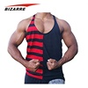Top Quality Striped Customized Color Gym Tank Top Men
