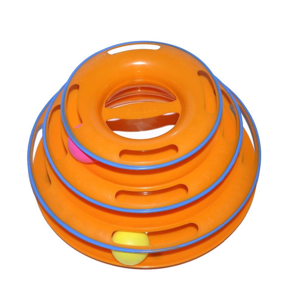 Creative Pet Cat Training Three Levers Tower Of Tracks Interactive Amusement Plate Cat Toys Pet Ball Toys