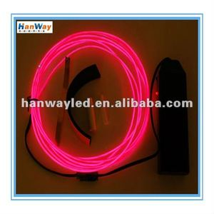 Multi Color 12V 2.5mm Flexible Glowing Neon El Electroluminescent Wire For cars decorative