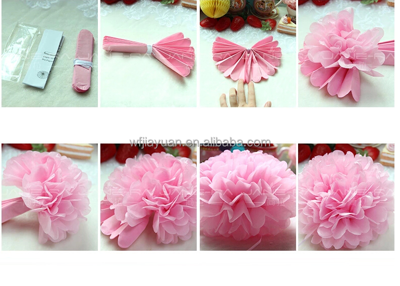 How to make hanging paper flower balls diy tissue paper flowers new design hanging decorative paper flower pompom for mightylinksfo