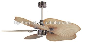 50 inch 5 palm leaf blades ceiling fan with caribbean brass buy 50 inch 5 palm leaf blades ceiling fan with caribbean brass mozeypictures Gallery