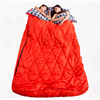 Double Sleeping Bag Camping Mummy & Dad Sleeping Bag Camping Liner Flannel Hiking With Carrying Bag