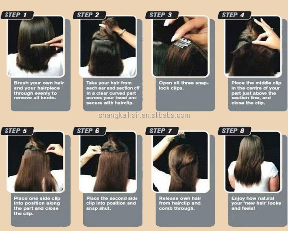 Wholesale European Market Cheap Hair Extensions Clip In Full Head