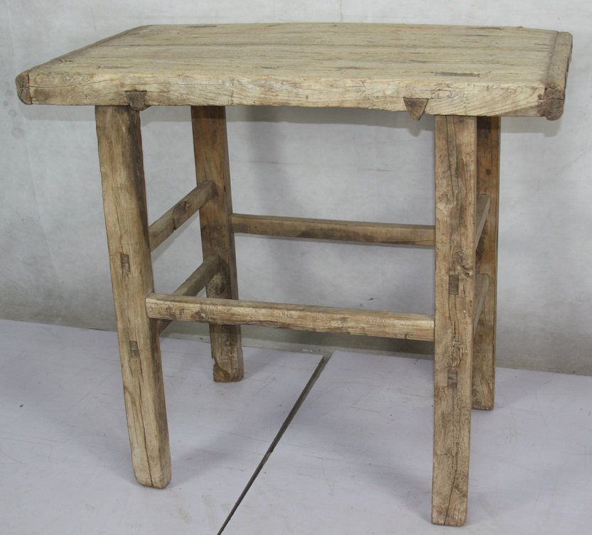 Chinese Antique Recycle Wood Bleached Natural Console Table