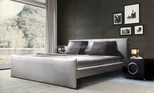 exquisite-manworkship A-B13 king size leather bed with tv in footboard