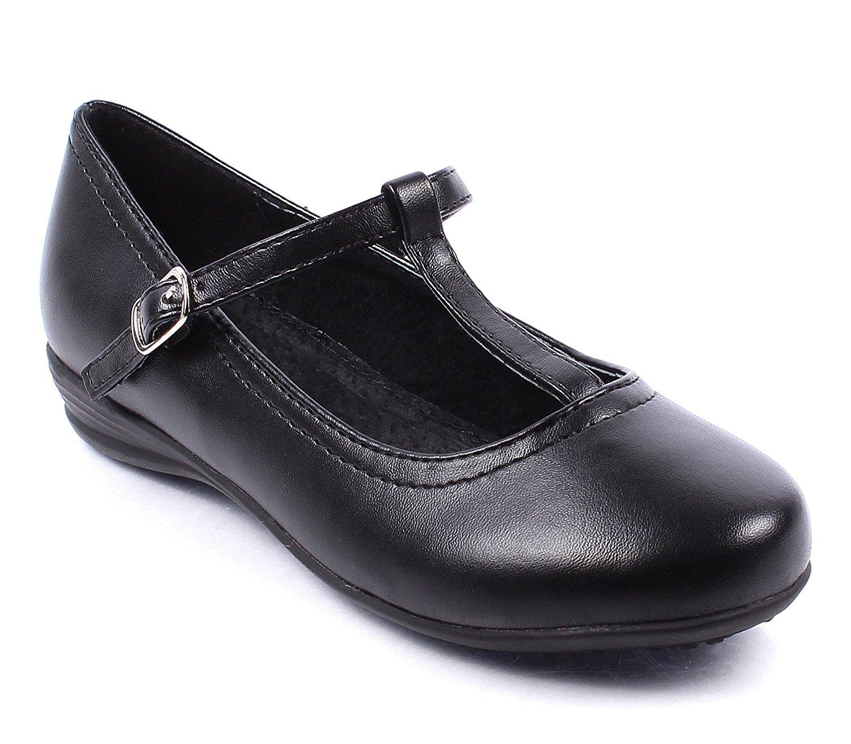 8dd2b3102ad5 Get Quotations · Fashion Church School Uniform Formal T-strap Girls Buckle  Strap Faux Leather Kids Shoes Casual