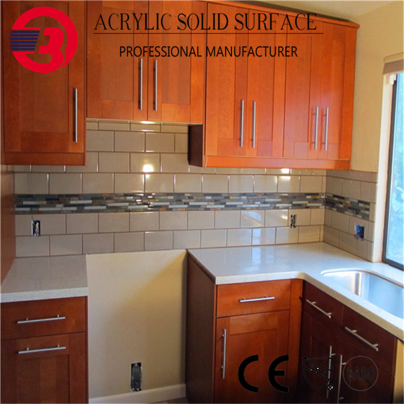 Customized dimension artificial marble stone kitchen worktop home kitchen countertop