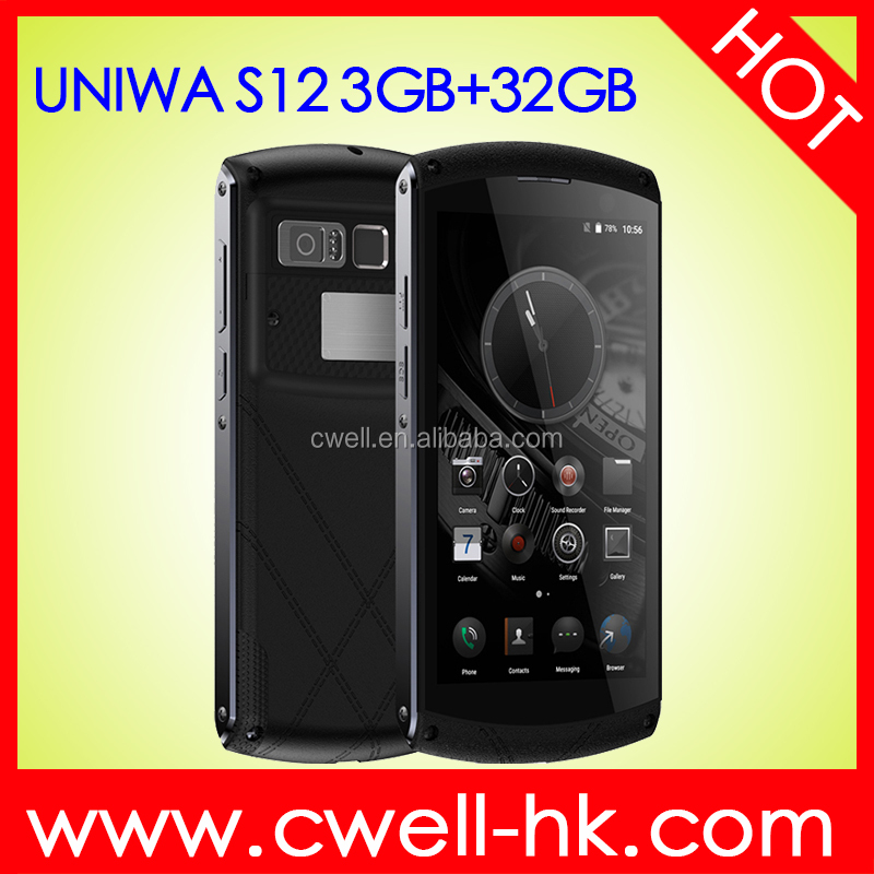 UNIWA S12 5 inch MTK6755 Octa Core 3GB RAM 32GB ROM IP67 Waterproof Camera Phone Front 5MP Back 13 MP
