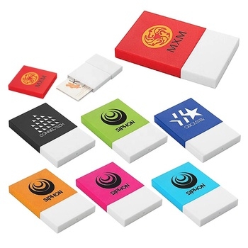 Best selling office style low price colorful customized logo printing silicone cover plastic base thrusting type name card case