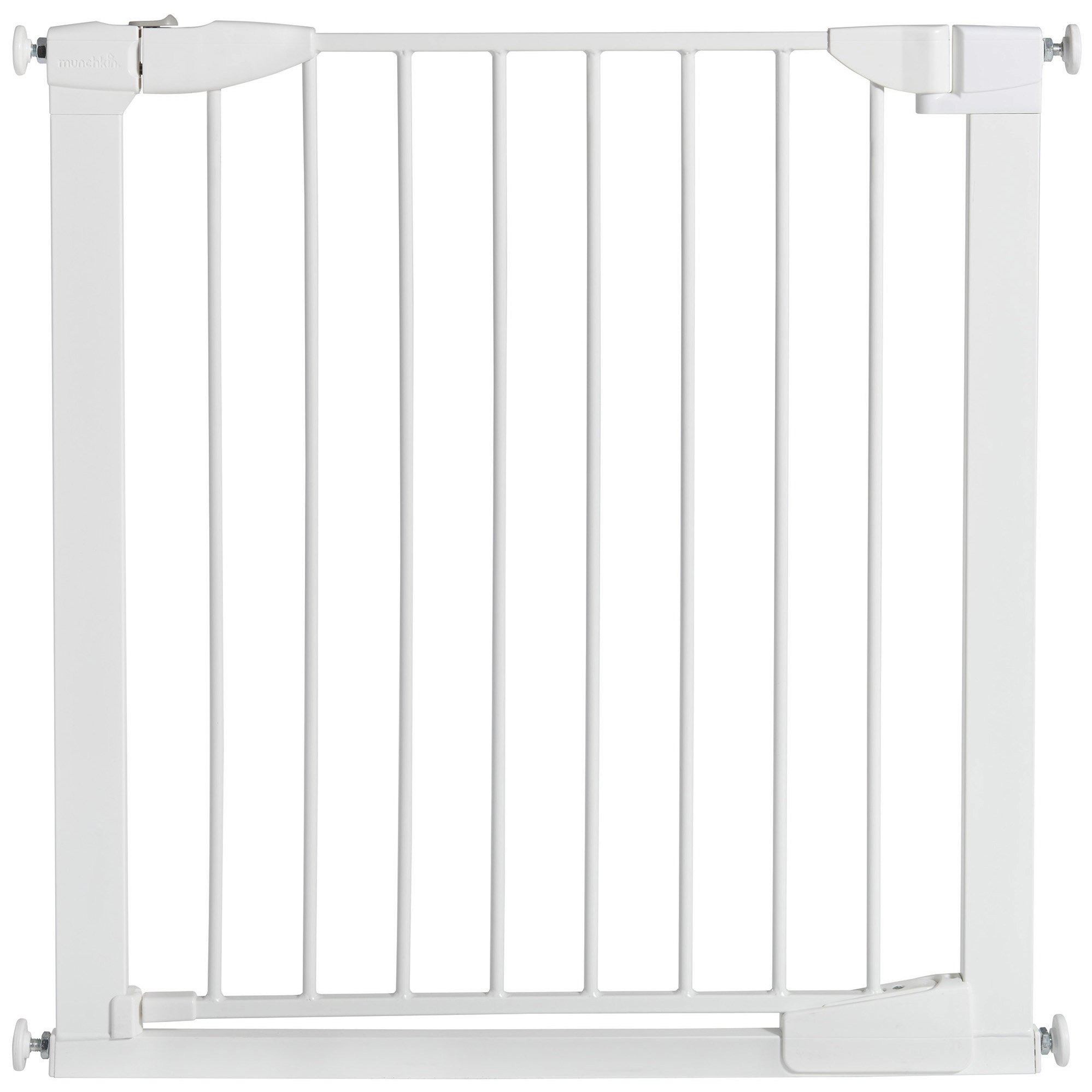 Get Quotations · Munchkin Auto Close Pressure Mount Baby Gate For Stairs,  Hallways And Doors, Metal,