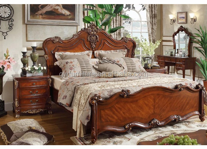 2016 A48 Antique Hand Carved Solid Oak Bedroom Furniture Prices
