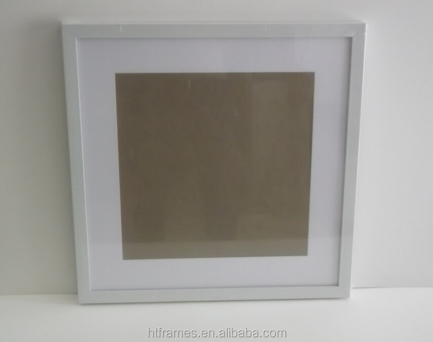 Custom Do 20x20 16x16 White Square Picture Frames With Mats