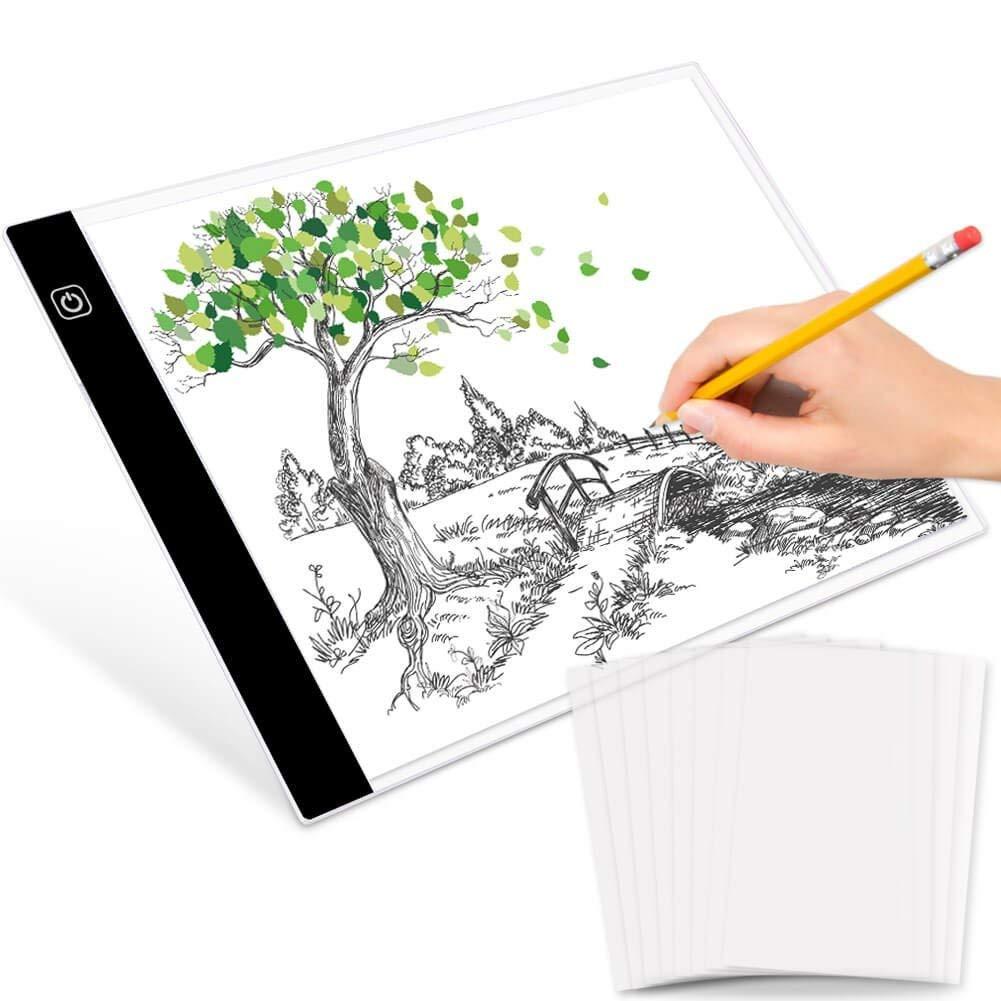 Wennow4 Pcs Tracing Paper Pad 30 Sheets+Sketch Book Paper Pad 40 Sheets