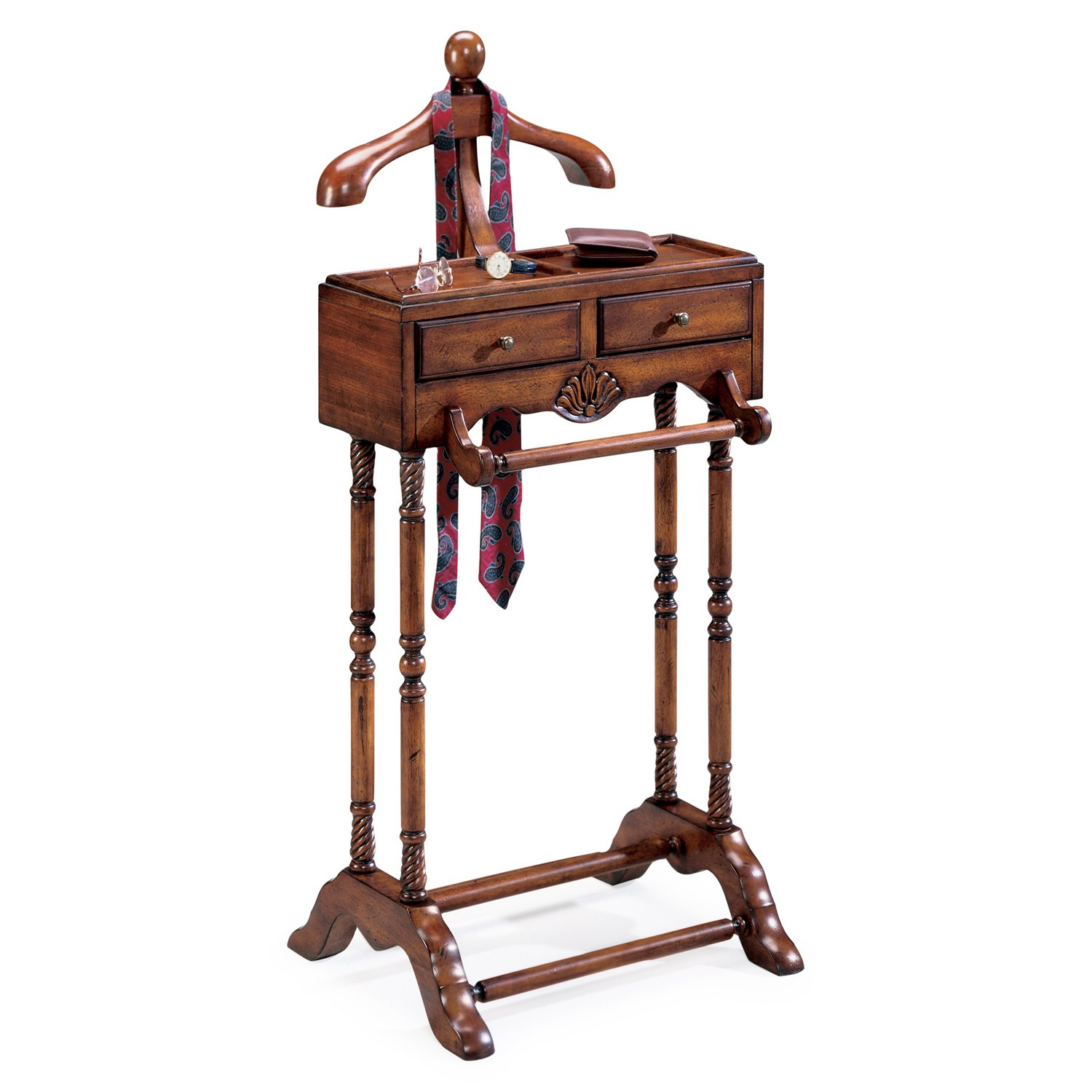 Get Quotations Valets Gentlemans Valet Stand Cherry Finish Clothes Rack Accent
