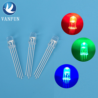 Led lighting multicolor rgb 4 pins 3mm 5mm led diode used for luminous gift