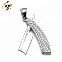 Promotion factory metal silver custom shaver fashionable pendants
