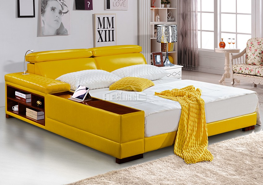 Fancy wood double bed designs with box 991 buy wood for Double bed with box design